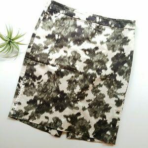 J. CREW Factory Ikat Floral Pencil Skirt Size 6